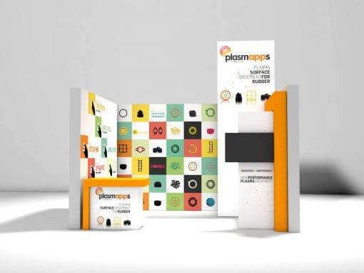 Plasmapps – Stand fieristico e materiale promozionale